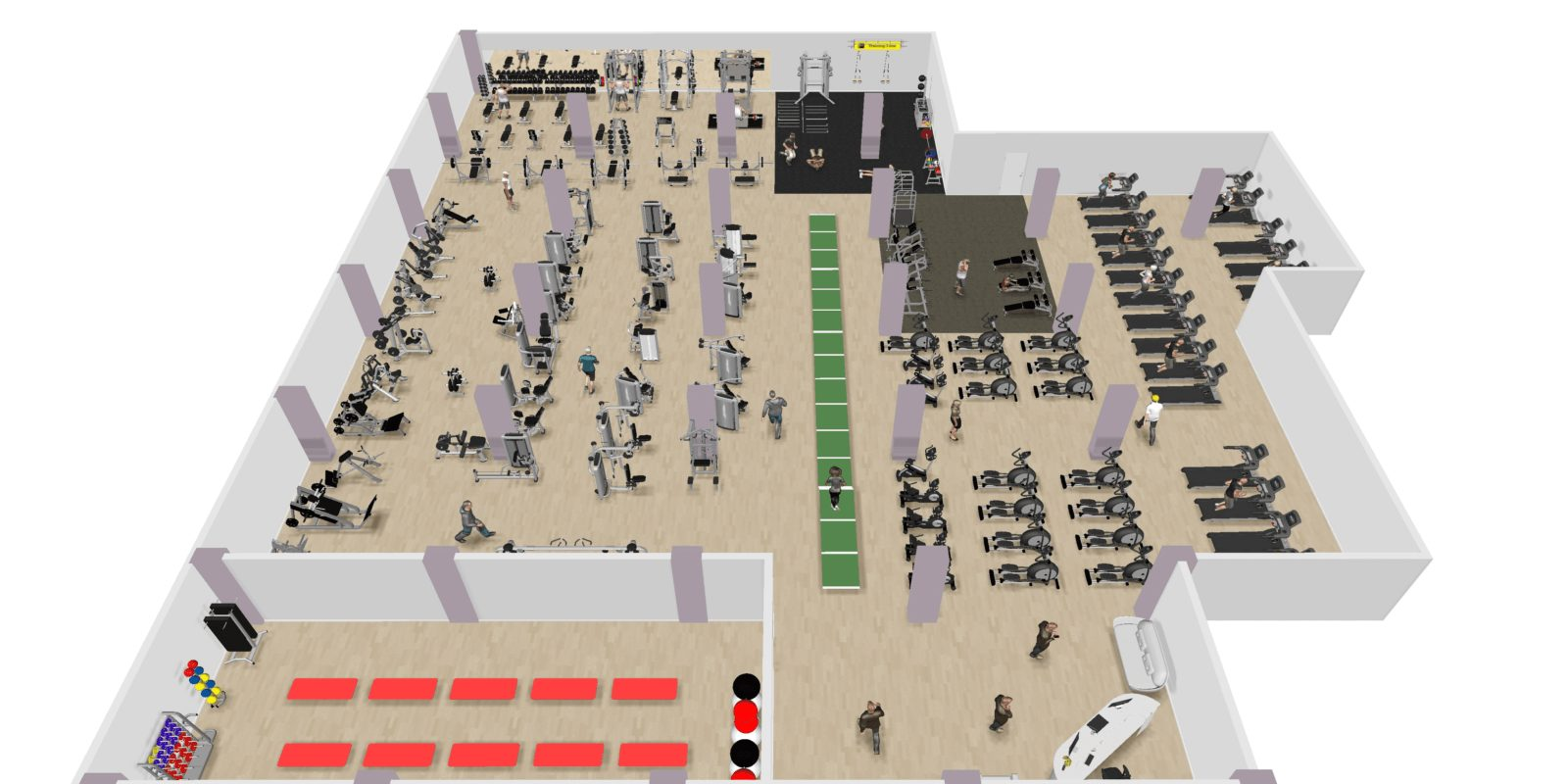 3d фитнес зала