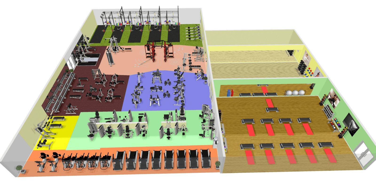 3D тренажерного зала ГРАВИТАЦИЯ