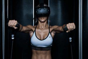 В виртуальных очках в фитнесе