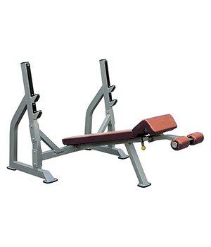 IFODB - Олимпийская скамья для жима с отрицательным наклоном, со стойками