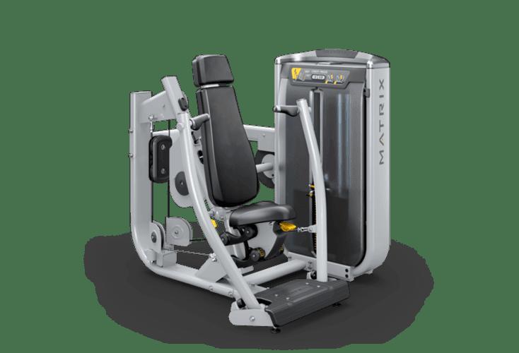 Matrix fitness жим сидя в тренажере