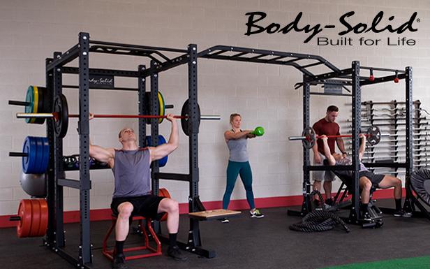 Тренировка в зале на оборудовании Body Solid