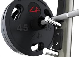 Matrix fitness хромированные держатели для штанги Aura G3