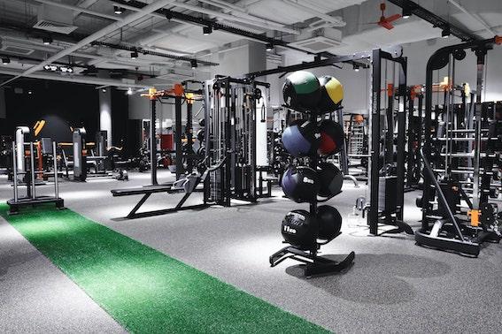 Neverest функциональная зона в фитнес-клубе