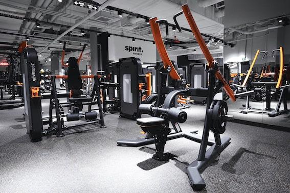 Neverest тренажеры нагруэжаемые дисками в фитнес клубе