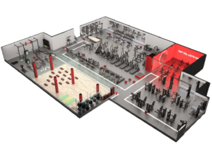 3D проект фитнес клуба от zealsport.ru