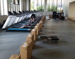 Монтаж зала фитнес оборудования